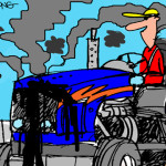 Tractor Life On The Funny Farm: Cartoon Caption Contest Winner – November 2015