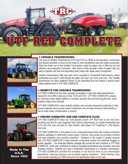 Tractor Life Authenticated UTF-Red-Complete